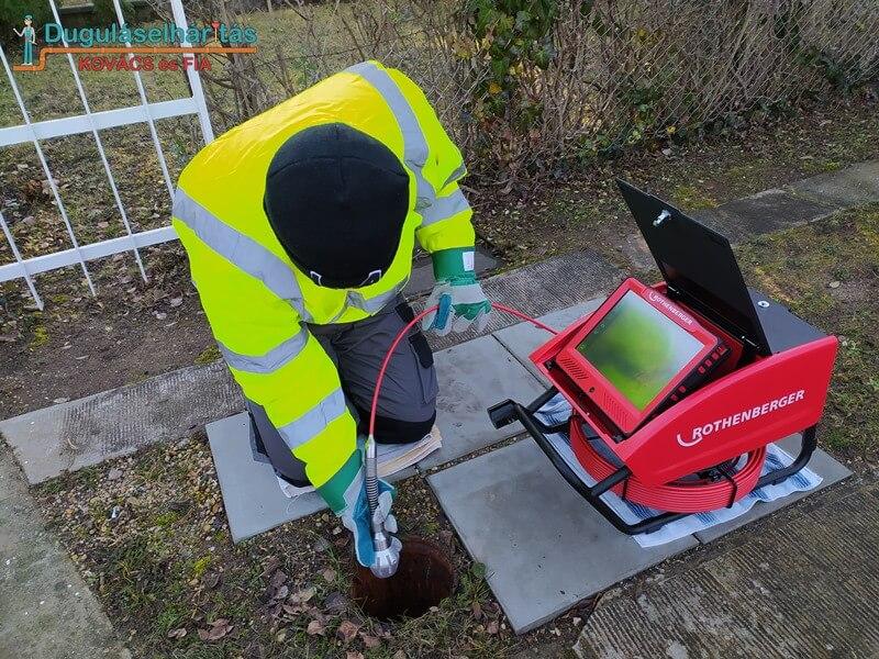 Kamerás csővizsgálat munka közben - dugulaskovacs.hu
