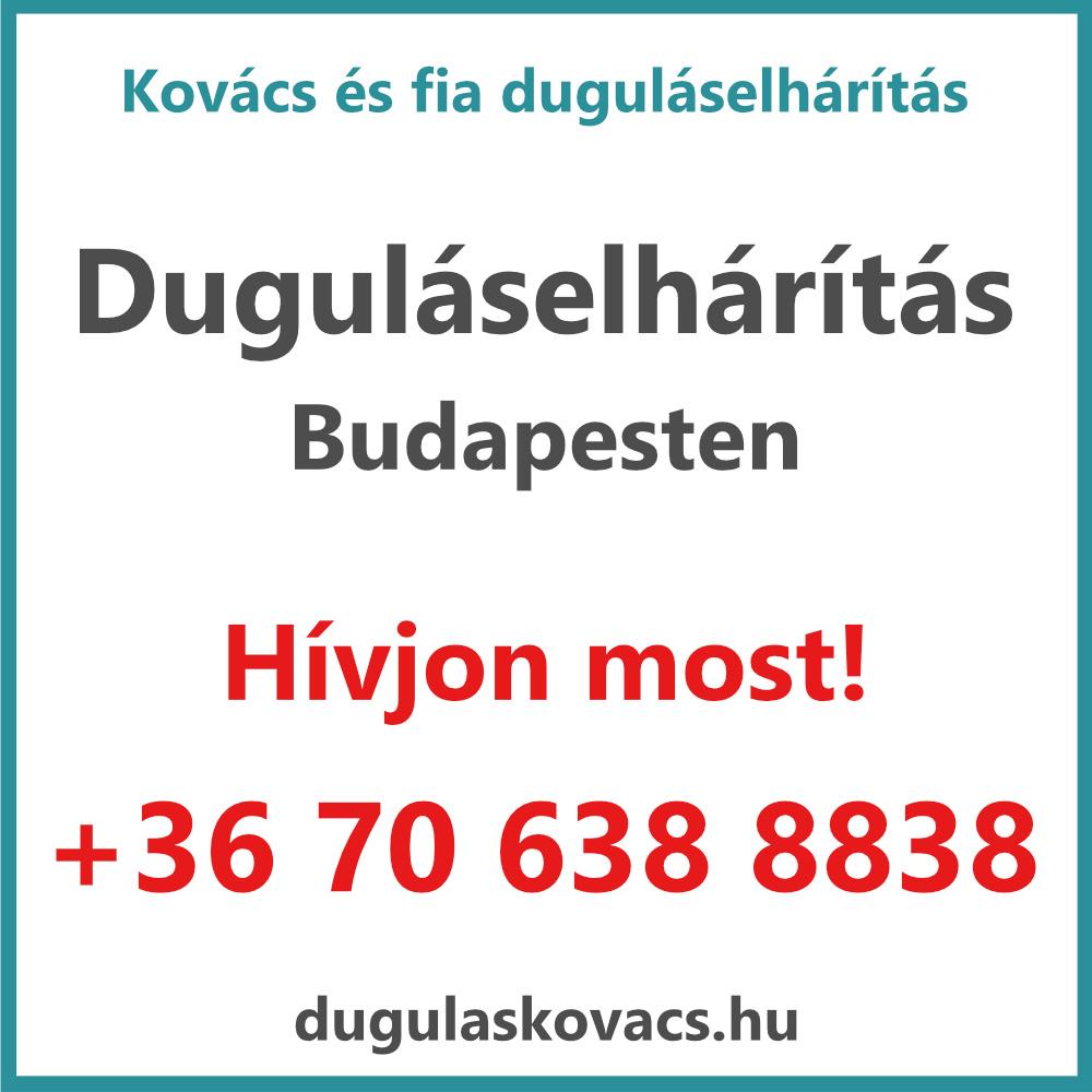 Kovács és Fia duguláselhárítás Budapesten