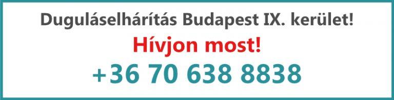 Kovács és Fia duguláselhárítás IX. kerület Budapest