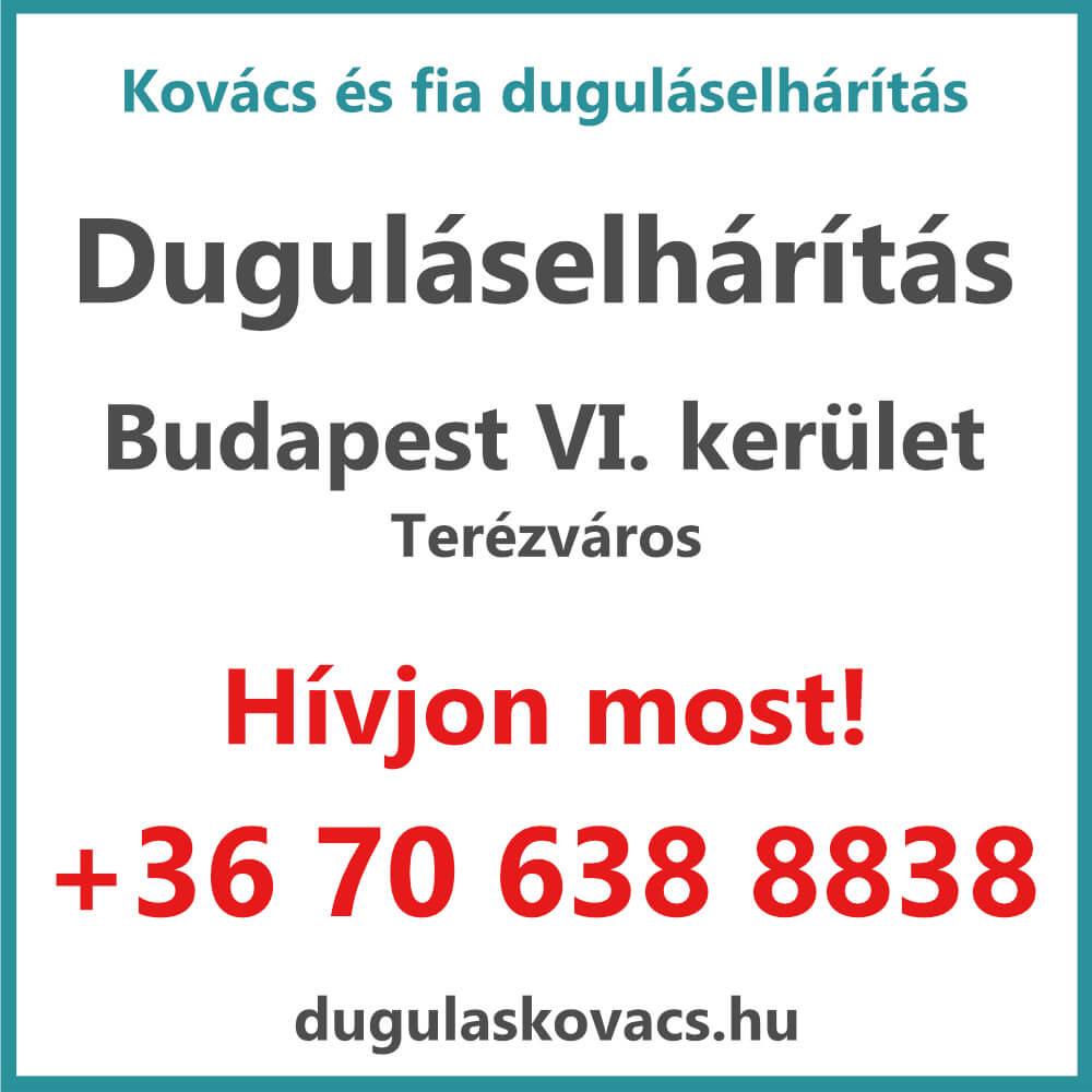 Kovács és Fia duguláselhárítás VI. kerület Budapest