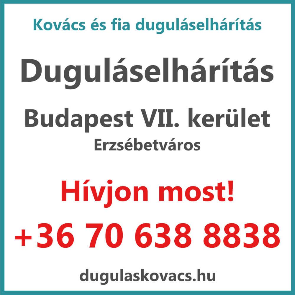 Kovács és Fia duguláselhárítás VII. kerület Budapest