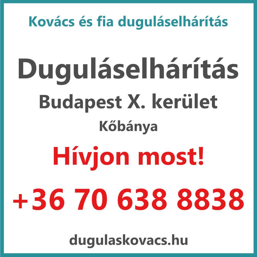 Kovács és Fia duguláselhárítás X. kerület Budapest