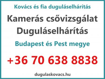 Duguláselhárítás árak Budapest és környéke - Kovács és fia