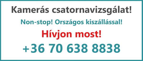 Kamerás csatornavizsgálat - Kovács és Fia duguláselhárítás